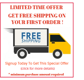 Get FREE shipping on your first Order (click for details)